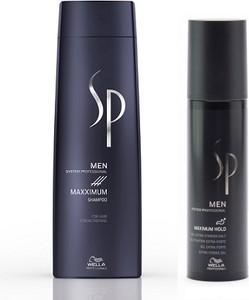 Wella Sp Men | Zestaw dla mężczyzn: szampon zagęszczający 250ml + bardzo mocny żel 100ml - Wysyłka w 24H!