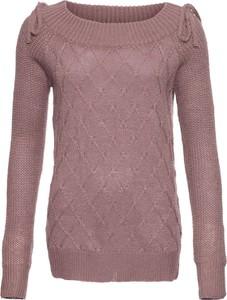 Różowy sweter bonprix BODYFLIRT w stylu casual