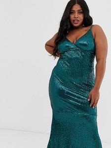 Zielona sukienka Club L London Plus na ramiączkach