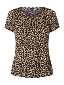 Brązowa bluzka S.Oliver Black Label z okrągłym dekoltem z krótkim rękawem