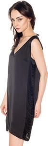 Sukienka Pepe Jeans asymetryczna z dekoltem w kształcie litery v mini