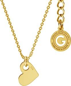 GIORRE SREBRNY NASZYJNIK CELEBRYTKA SERCE GRAWER 925 : Kolor pokrycia srebra - Pokrycie Żółtym 24K Złotem