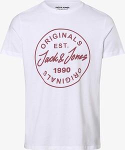 T-shirt Jack & Jones w młodzieżowym stylu z krótkim rękawem