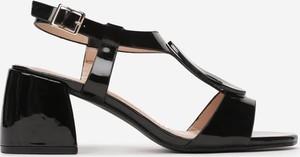 Czarne sandały Multu ze skóry