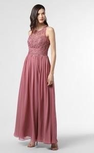 Różowa sukienka Laona z dekoltem w kształcie litery v maxi bez rękawów