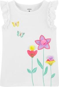 Bluzka dziecięca OshKosh w kwiatki z bawełny