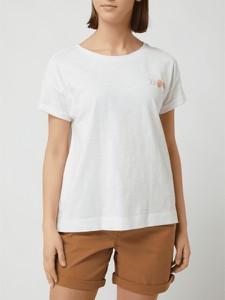 T-shirt Esprit z bawełny z krótkim rękawem z okrągłym dekoltem