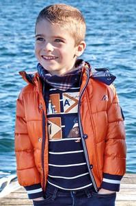 Pomarańczowa kurtka dziecięca Mayoral z tkaniny