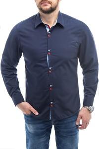 Niebieska koszula Risardi z klasycznym kołnierzykiem w stylu casual