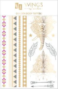 Oceanic AA Wings of Color Summer Festival złoty tatuaż do ciała i twarzy 03