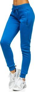 Niebieskie spodnie sportowe Denley z bawełny