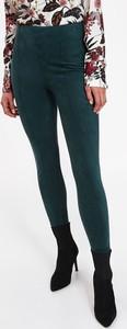 Zielone legginsy Top Secret w stylu casual z dzianiny