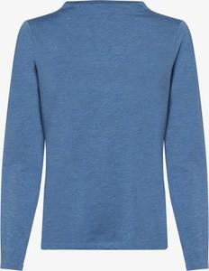 Niebieski t-shirt comma, z golfem z długim rękawem w stylu casual