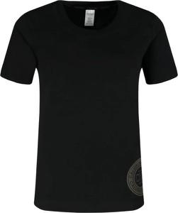 Czarny t-shirt Calvin Klein Underwear z okrągłym dekoltem w stylu casual z krótkim rękawem
