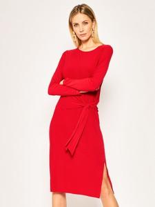 Sukienka DKNY z długim rękawem midi w stylu casual