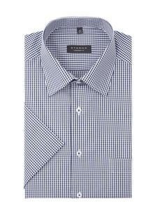 Granatowa koszula Eterna w stylu casual z bawełny