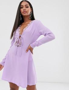 Fioletowa sukienka Missguided mini