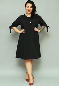 Sukienka KARKO z długim rękawem dla puszystych midi