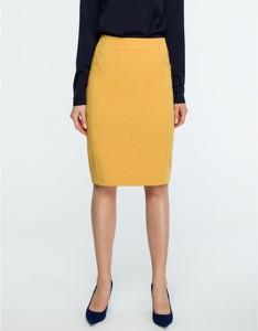 Żółta spódnica Style midi