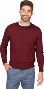 Czerwony sweter Lanieri Fashion z wełny