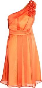 Pomarańczowa sukienka Fokus maxi bez rękawów