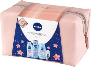 Beiersdorf ZESTAW NIVEA PINK COLLECTION żel pod prysznic 250ml + balsam 200ml + szampon 250ml + antyperspirant 50ml