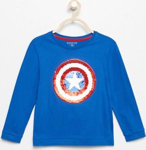 Niebieska koszulka dziecięca Reserved z długim rękawem