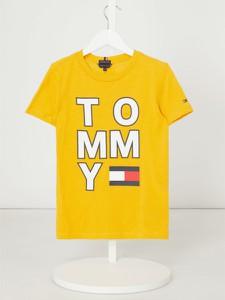 Koszulka dziecięca T. Hilfiger Teens dla chłopców z dżerseju