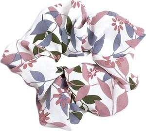Miss Glow GUMKA DO WŁOSÓW frotka scrunchies RÓŻOWA kwiaty