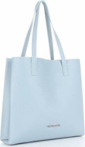 Niebieska torebka VITTORIA GOTTI na ramię duża ze skóry