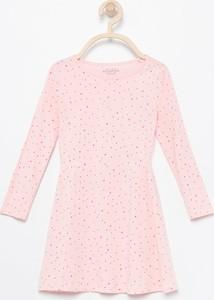 Różowa sukienka dziewczęca Reserved z bawełny