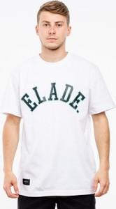 T-shirt Elade z żakardu z krótkim rękawem w młodzieżowym stylu