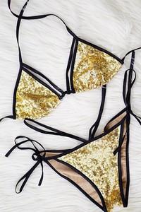 Złoty strój kąpielowy Billion Ladies