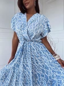 Sukienka Versada koszulowa mini z dekoltem w kształcie litery v