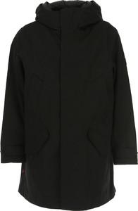 Czarna kurtka Woolrich w stylu casual z bawełny