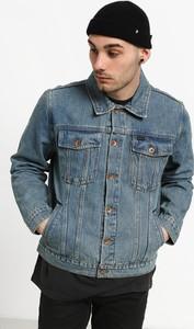 Niebieska kurtka Brixton z bawełny
