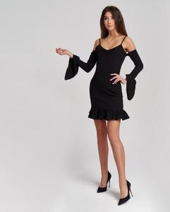 Sukienka Olessa z długim rękawem mini w stylu casual