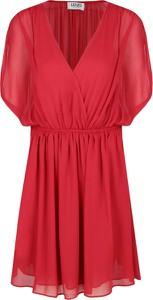 Czerwona sukienka Liu-Jo rozkloszowana