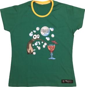 T-shirt Melanżowe Akcesoria Tekstylne z okrągłym dekoltem z bawełny