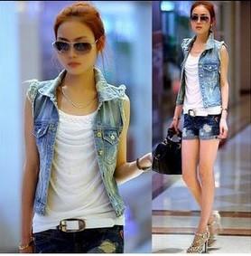 Kamizelka Yaze z jeansu w street stylu