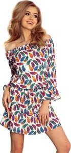 Sukienka NUMOCO mini hiszpanka z długim rękawem