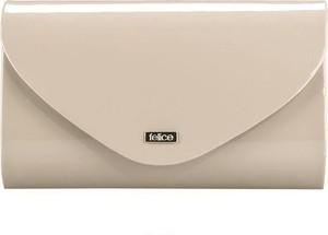 61d02c3bba13b torebka kopertówka beżowa lakierowana - stylowo i modnie z Allani