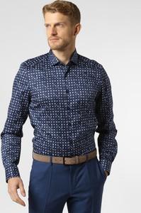 Niebieska koszula Finshley & Harding z klasycznym kołnierzykiem