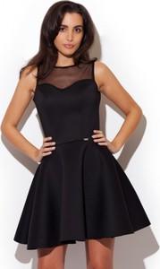 Czarna sukienka LENITIF mini bez rękawów