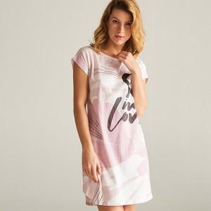 acfbbff2439dca ... Czarny • Koszula nocna. Różowa piżama Reserved w stylu casual