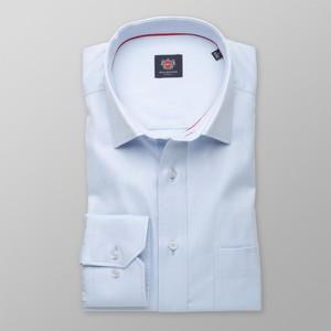 Niebieska koszula Willsoor z bawełny z klasycznym kołnierzykiem