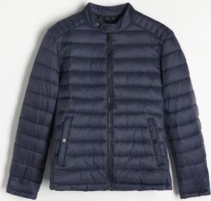 Granatowa kurtka Reserved w stylu casual krótka