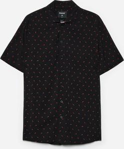 Czarna koszula Cropp z krótkim rękawem w młodzieżowym stylu