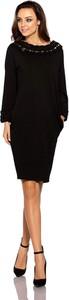 Czarna sukienka Lemoniade midi z okrągłym dekoltem