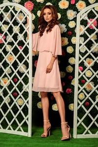 Sukienka Lemoniade z szyfonu z krótkim rękawem midi